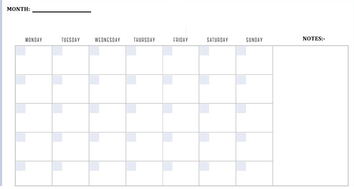Free Printable Monthly Calendar 2020.Printable Monthly Planner Calendar Kart