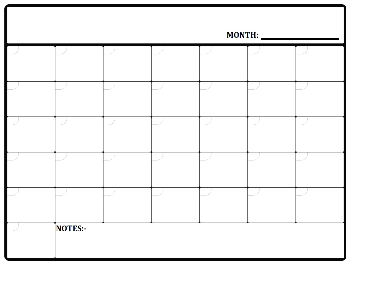 Monthly Planner Template 2020